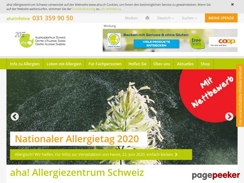 aha! Schweizerisches Zentrum für Allergie, Haut und Asthma