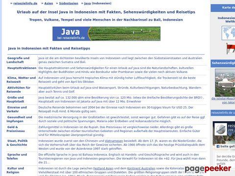 Urlaub Java - Fakten und Sehenswürdigkeiten für Indonesien