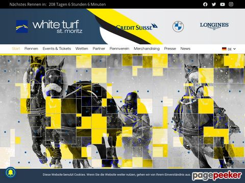 White Turf - International horse races since 1907