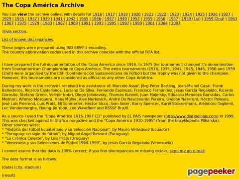 Copa América Archiv - von 1916 - heute - Alle Resultate/Fakten