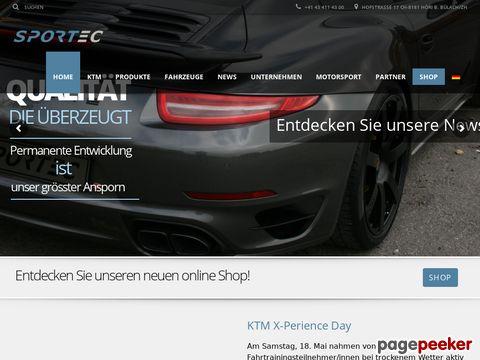 ::Sportec AG:: Die offizielle Webseite der Sportec AG