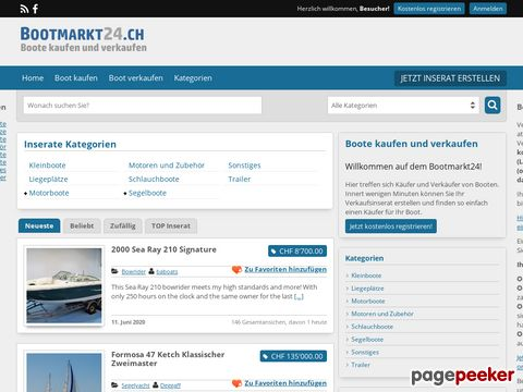 bootmarkt24.ch - Schweizer Bootsmarkt für Gebrauchtboote