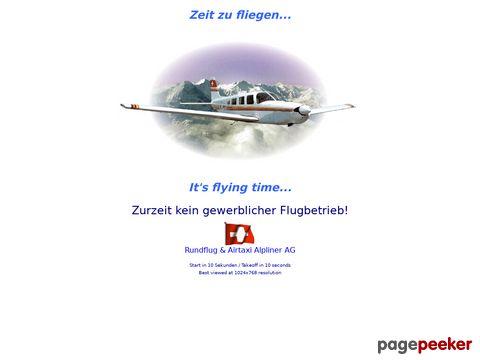 Rundflüge Alpenflüge und Airtaxi mit der alpliner