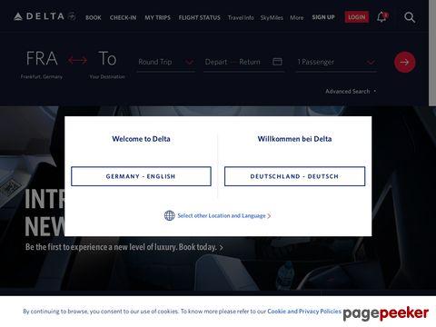 Delta Air Lines - Flugtickets und Flugpreise für weltweite Reiseziele