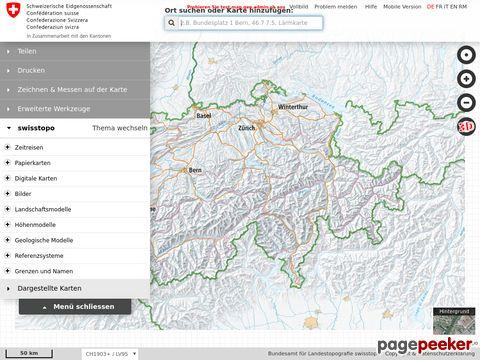 swisstopo geodataviewer - Karten vom Bundesamt für Landestopografie swisstopo (Schweiz)