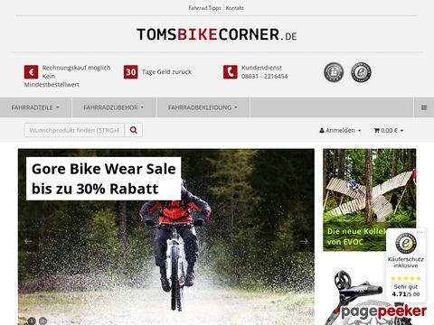 Tomsbikecorner.de - Zubehör, Bekleidung und Teile fürs Fahrrad, Bike und Rennrad
