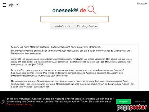 OneSeek.de - Metasuchmaschine