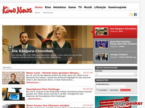 kinonews.de - Das Kino und Entertainment Magazin