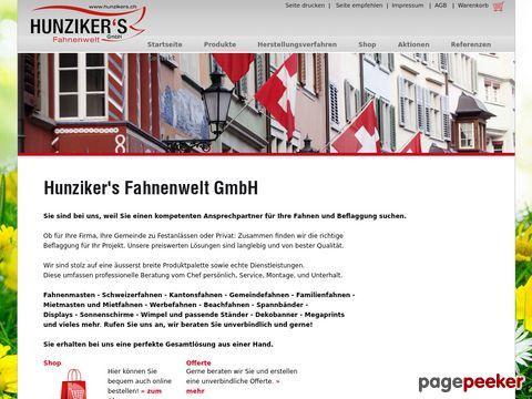 hunzikers.ch - Fahnen kaufen / Flaggen Shop