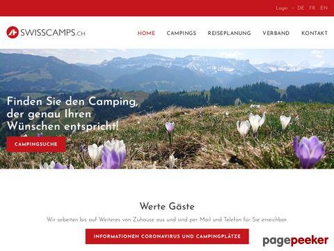swisscampings.ch - Campings of Switzerland - Camping-Karte der Schweiz