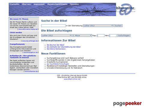 bibel-online.net - online Bibel (auch mit Suchfunktion)