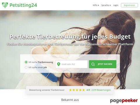Petsitting24.ch - Tierbetreuung, Tiersitter für die Schweiz
