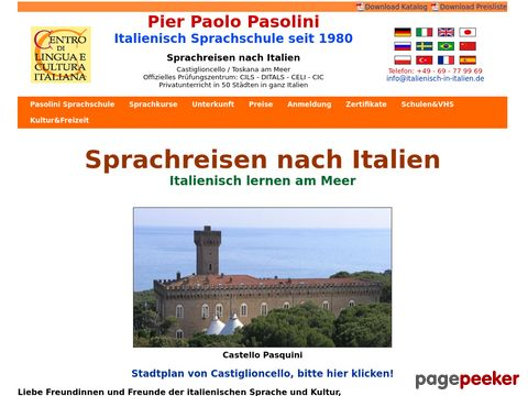 Italian language courses and Italian language schools in Italy: Tuscany by the sea and 50 Italian Cities