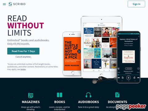 Scribd - share original writings and documents - youtube der Texte