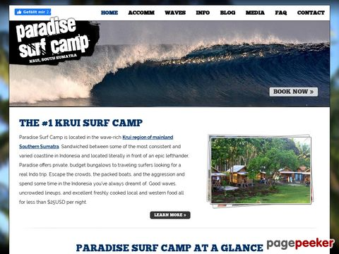 Paradise Surf Camp - located in the Krui area of Sumatra, Indonesia