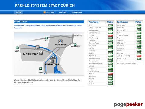 Parkleitsystem Stadt Zürich (ZH)