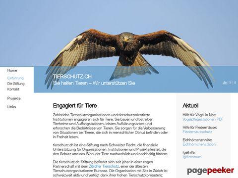 tierschutz.ch - Schweizer Tierschutz-Portal mit Tiermeldesystem
