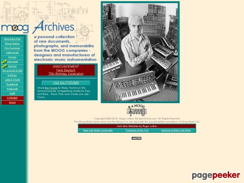 moogarchives.com - MOOG ARCHIVES Home Page
