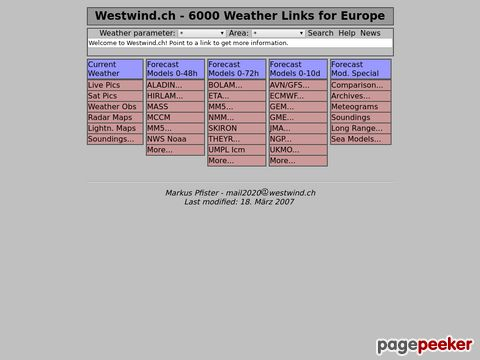 Westwind.ch - 6000 Weather Links for Europe