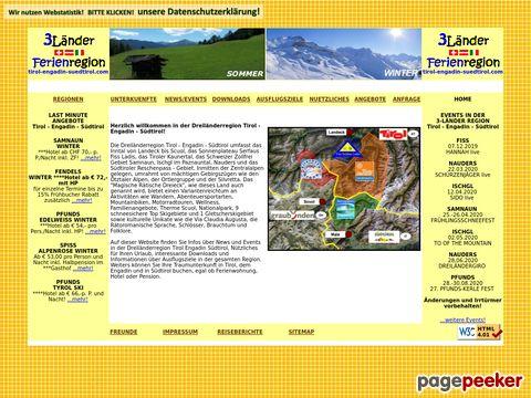 Urlaub in der Dreiländer - Ferienregion Tirol-Engadin-Südtirol