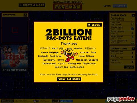 Worlds Biggest PAC-MAN (HTML5-Version)