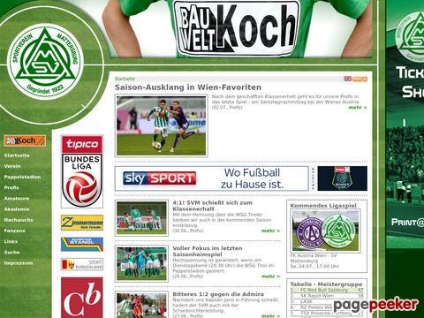 ..:: SV Bauwelt Koch Mattersburg ::..