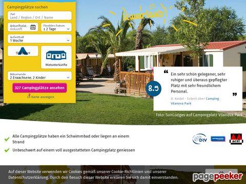 Suncamp holidays, Campingplaetze/Campingurlaub online buchen!