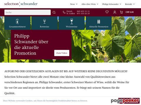selection-schwander.ch - Ausgesuchte Weine vom einzigen Schweizer Master of Wine