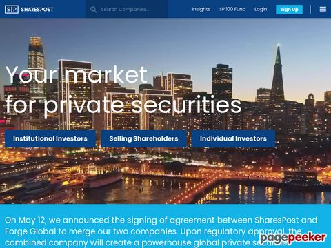 sharespost.com - buy and sell private equity