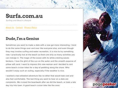 Surfa.com.au - Online Surfing Magazine (Australien)