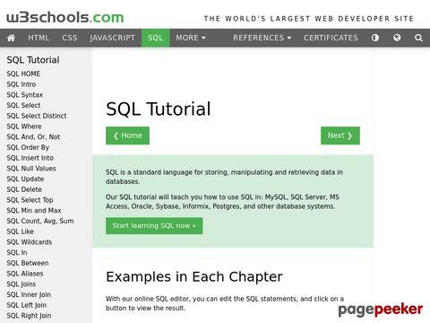SQL Tutorial von w3schools.com