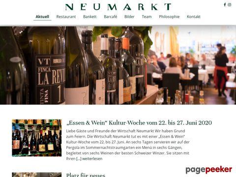 Wirtschaft Neumarkt - Restaurant in der Altstadt von Zürich