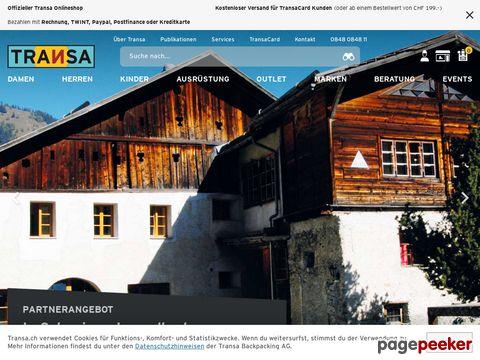 Transa.ch - Online Shop - die Spezialisten für Outdoor-Ausrüstung