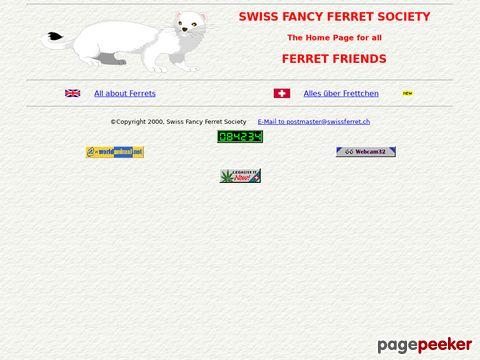 swissferret.ch - offiziellen Seiten der Schweizer Frettchen Freunde