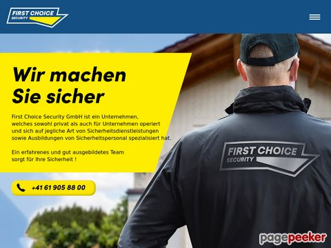Firma First Choice Security GmbH
