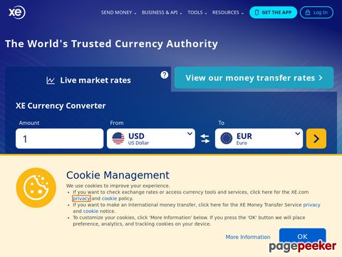 XE - The Worlds Favorite Currency and Foreign Exchange Site