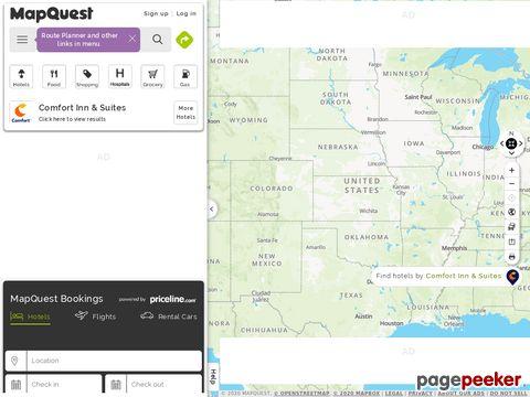 Landkarten weltweit von Mapquest.com