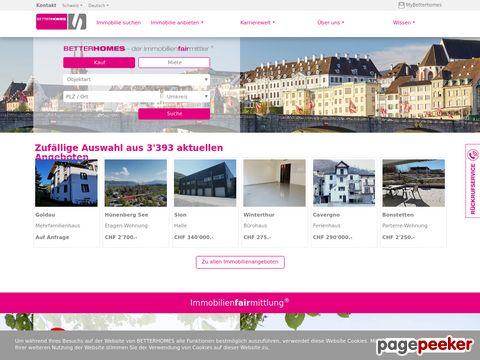 betterhomes.ch - BETTERHOMES Schweiz - Immobilienvermittler Schweiz