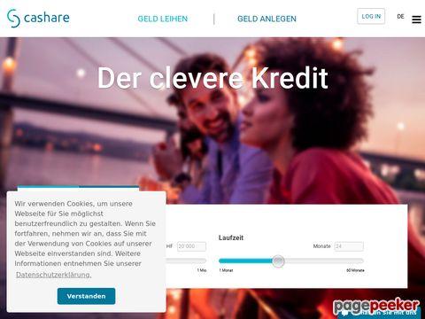 cashare.ch - Kredite - Darlehen - Konsumkredit - Geld leihen - Swiss Online Community