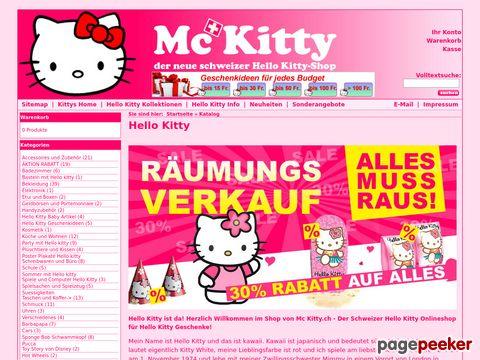 Hello Kitty Shop Schweiz - McKitty.ch für Geschenke und Geschenkideen