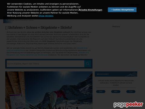 skiinfo.ch - Schneehöhen und Schneeberichte für Skigebiete in Europa