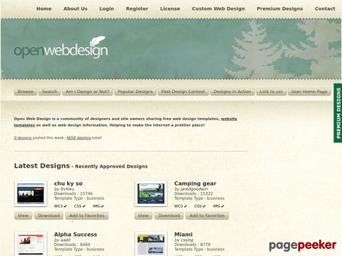 Open Web Design - Download Free Web Design Templates