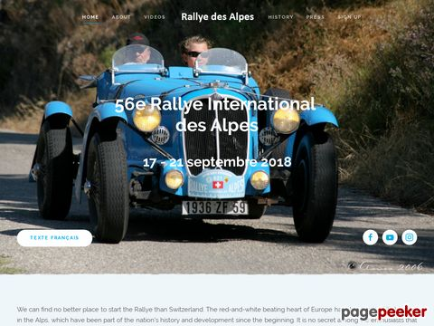 Rally International des Alpes Historique