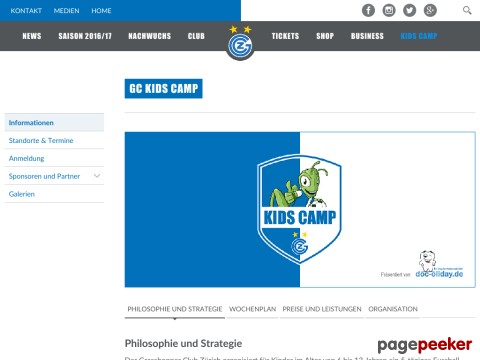 GC Kids Camps - Grasshopper Club Zürich