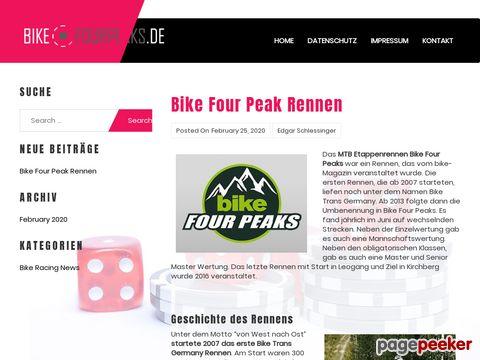 BIKE Four Peaks - viertägige Etappenrennen in Deutschland und Oesterreich