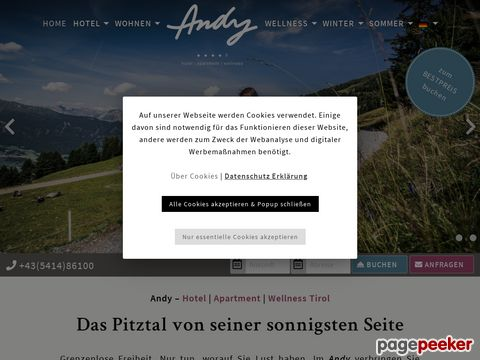 Hotel Tirol   Wellness & Wanderurlaub im Hotel Andy in Jerzens im Pitztal