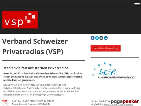 vsp-asrp.ch - Verband Schweizer Privatradios