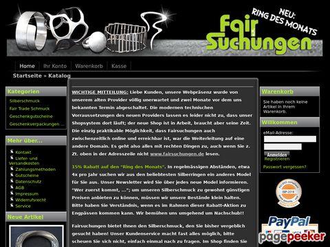 fairsuchungen.de - Exklusiver Silberschmuck und Hochwertige Parfums