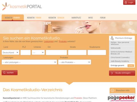 Kosmetik: Kosmetikportal - Ihr Kosmetikstudio Verzeichnis