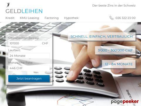 geldleihen.ch - Geldleihen - Kredit in der Schweiz